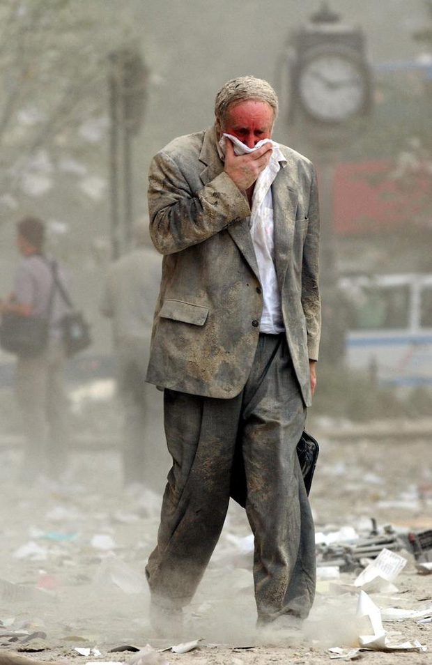 Edward Fine - the man in the iconic photo of 9/11: A survivor's story   Newsnpr